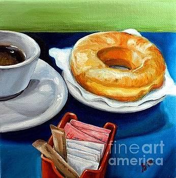 Coffee And Donut by Gretchen Matta
