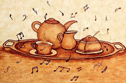 Coffee Break 2 coffee painting by Georgeta  Blanaru