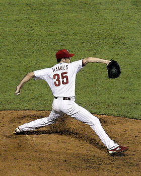 Cole Hamels by Gerry Mann