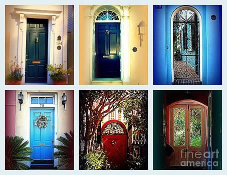 Susanne Van Hulst - Collage of Charleston Doors