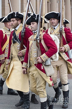 Colonial soldiers marching by Andrew  Michael