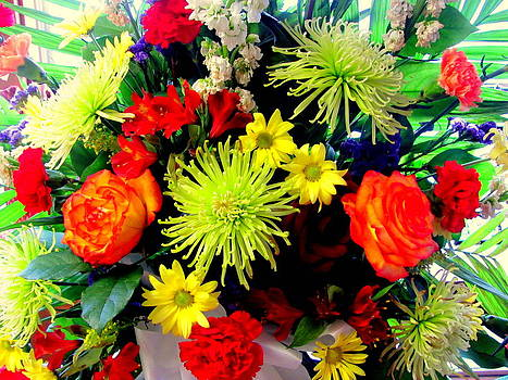 Colorful Flower Arrangement by Amy Bradley