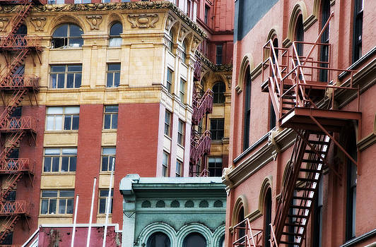 Colorful old buildings in Vancouver by Marlene Ford