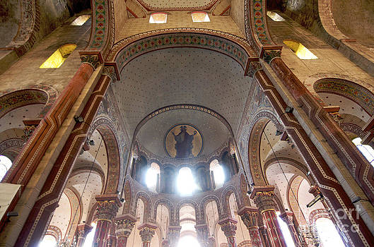 BERNARD JAUBERT - Columns of the roman church Saint-Austremoine d