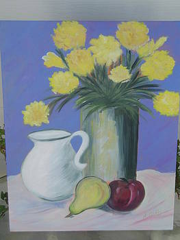 Container Of Flowers by Arlene Gibbs