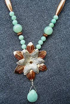 Copper Silver Flower with Amazonite by Dyan  Johnson