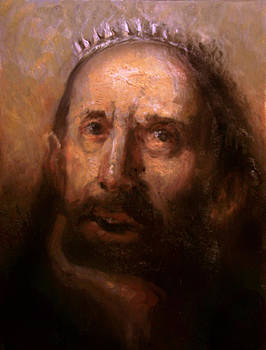 Copy of Odd Nerdrum King portrait by Derek Van Derven