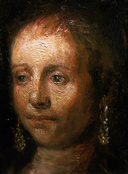 Copy of Rembrandt head from The Jewish Bride by Derek Van Derven