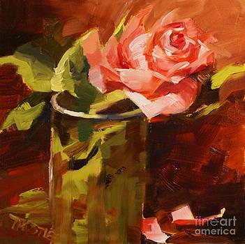 Coral Rose Room Decor Print Painting by Patti Trostle
