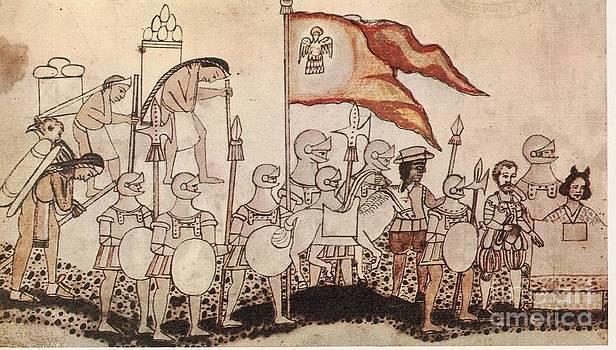 Photo Researchers - Cortez Entering Mexico 1519