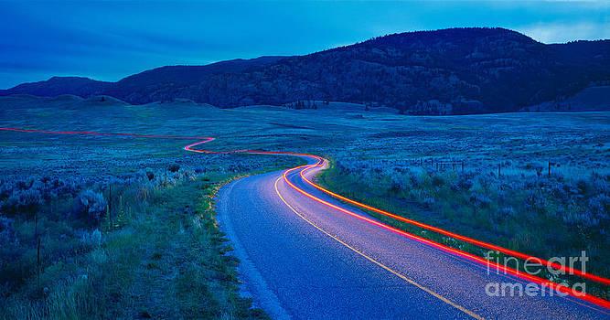 Country Road at Twilight  by David Nunuk