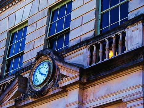 Courthouse Clock by Beverly Hammond