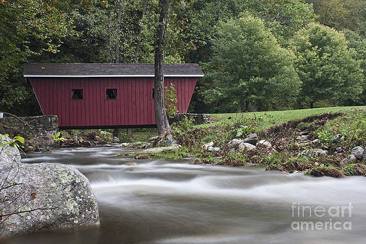 Covered Bridge at Kent Falls State Park by Robert Wirth