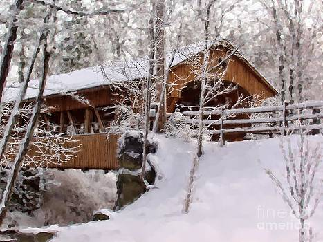 Covered Bridge At Olmsted Falls - 2 by Mark Madere