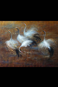 Cranes of Joy by Chikako Takizawa