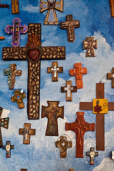 Crosses in Historic Albuquerque by Les Abeyta