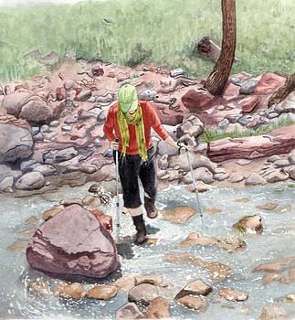 Crossing Virgin Stream by Inger Hutton