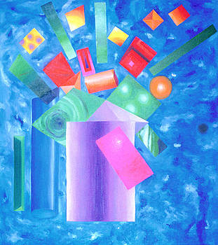 Cubist Flowers by Robert Fenwick May Jr