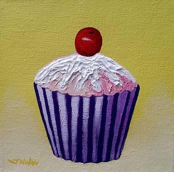 Cupcake On Yellow by John  Nolan