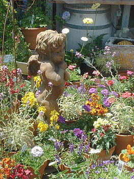 Cupid and a Mixed Bouquet by Joan  Jones