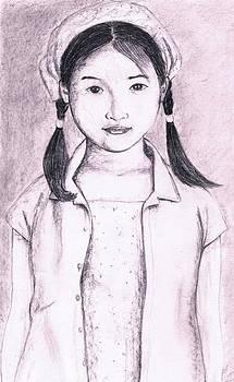 Cute girl by Bindu N