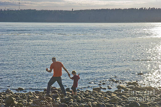Dad and son by Jim Wright