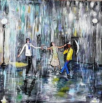 Dancing on the rain by Sandro Sabatini