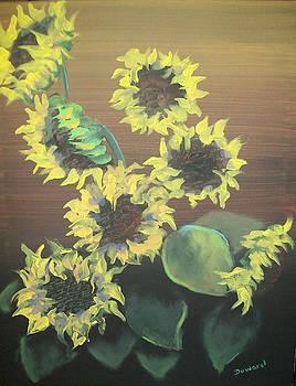 Dancing Sunflowers by Raymond Doward