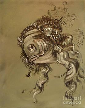 Davinci Fish Sketch by Ellen Marcus