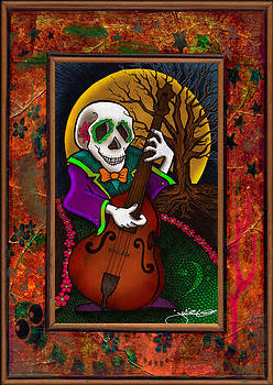 Day of the Dead - Bass Player by Julie Oakes