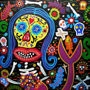 PRISTINE CARTERA TURKUS - DAY OF THE DEAD MERMAID