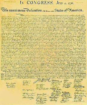 Photo Researchers - Declaration Of Independence