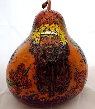 Demi-god of Grapes Gourd by David Syers