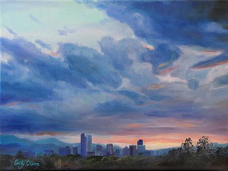 Denver Skyline at Sunset by Emily Olson