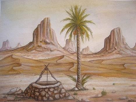 Desert Landscape by Abbas Djamat