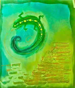 Desert Lizard Green by Amie Harvey