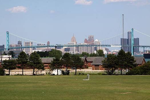 Jim Vansant - Detroit Skyline Seen from Fort Wayne