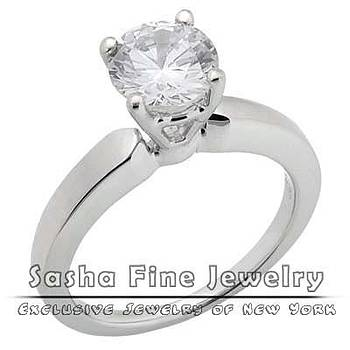 Diamond Solitaire Ring by Sasha Fine Jewelry