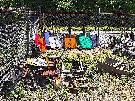 Anne Cameron Cutri - Discarded Signs at the Train Station