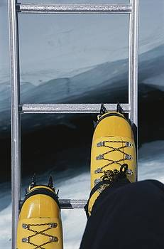 Dizzying View Of Crampons Traversing by Bobby Model