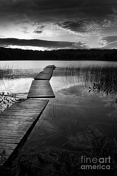 Dock and Lake- Hastings County Ontario by Mark Clifford