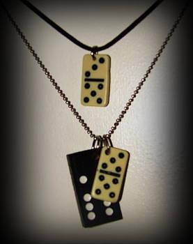 Dominoe tile pendants by K Walker