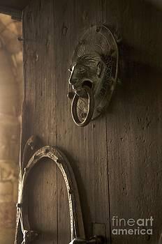 BERNARD JAUBERT - Door knocker of the Basilica Saint-Julien. Brioude. Haute Loire. Auvergne. France.