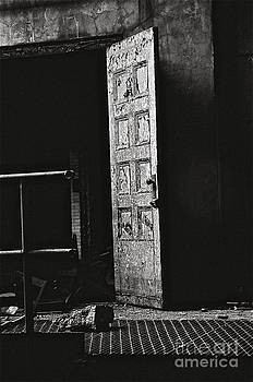 Door with peeling paint by James Thomas