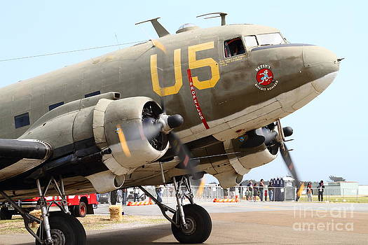 Wingsdomain Art and Photography - Douglas C47 Skytrain Military Aircraft . Spinning Propellers 7d157838