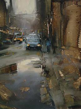 Down the Street by Tibor Nagy