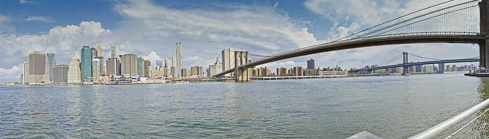 Downtown Manhattan Panorama 2 by Val Black Russian Tourchin