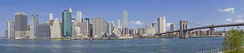 Downtown Manhattan Panorama 4 by Val Black Russian Tourchin