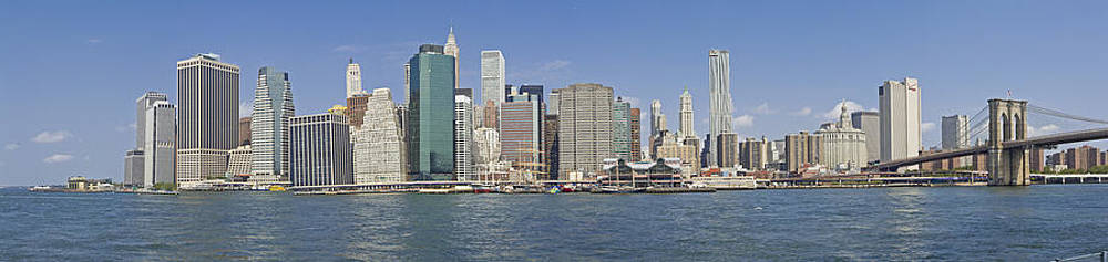 Downtown manhattan Panorama 5 by Val Black Russian Tourchin