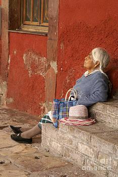 John  Mitchell - DOZING WOMAN San Miguel de Allende Mexcio